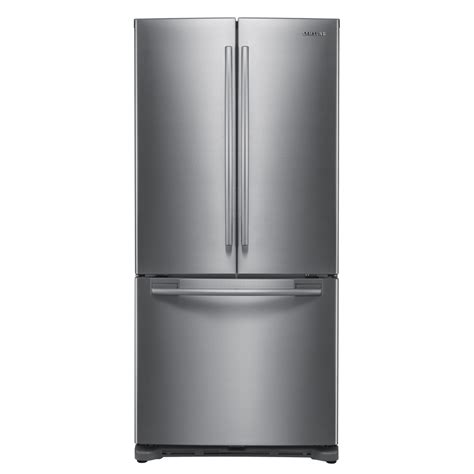 samsung door refrigerator stainless steel shop samsung 19 7 cu ft door refrigerator with