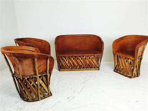 vintage mexican equipale settee and chairs for sale at 1stdibs