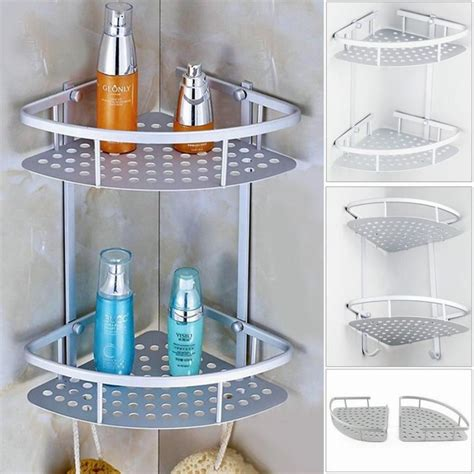 Tempat Sabun Soap Holder Tempat Sabun Batangan aluminum 2 tier wall shelf shower shelf shoo holder bathroom corner rack storage holder