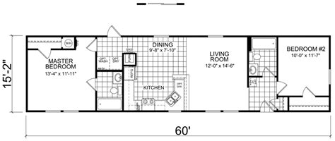 16 wide mobile home floor plans wendell 16 x 60 910 sqft mobile home factory expo home