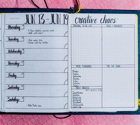 monthly layout bullet journal daily weekly and monthly bullet journal layout exles
