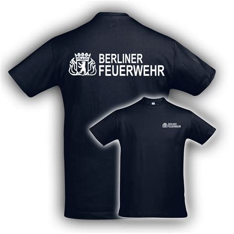 Berliner Feuerwehr Aufkleber by T Shirt Bf Navy Hauptstadtfeuerwehr