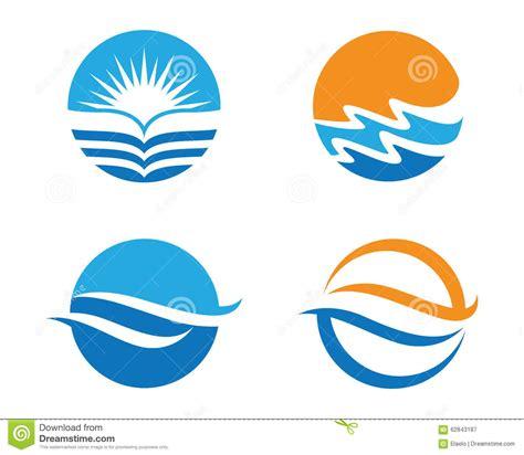 sea wave logos vector free stock vector wave logo stock vector image of limits