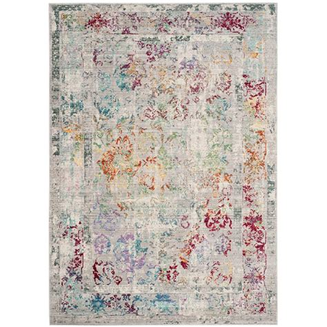 8 X 8 Area Rugs Safavieh Mystique Gray Multi 8 Ft X 10 Ft Area Rug Mys923r 8 The Home Depot