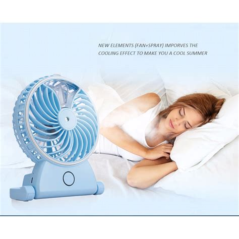 Kipas Angin Usb 5 Inchi kipas angin air embun usb rechargeable mini fan portable a29 blue jakartanotebook
