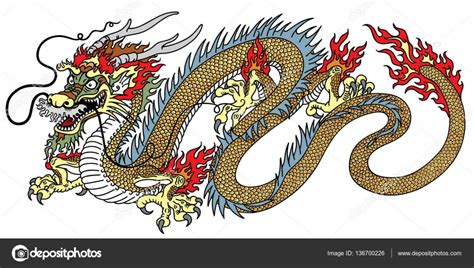 chinese dragon tattoo stock vector stock vector 169 insima 136700226