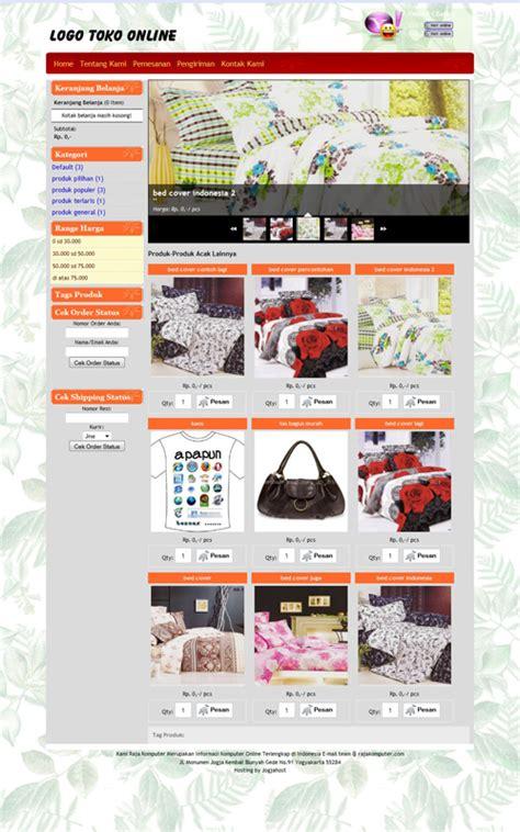 cara membuat desain toko online menggunakan bahasa html contoh tilan blog toko online wall ppx