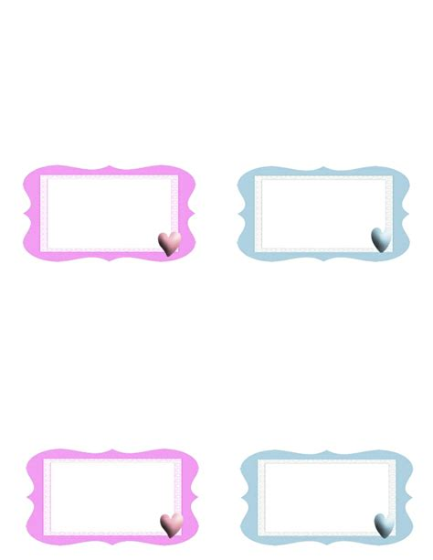 baby shower place cards template placecards for baby shower free templates and
