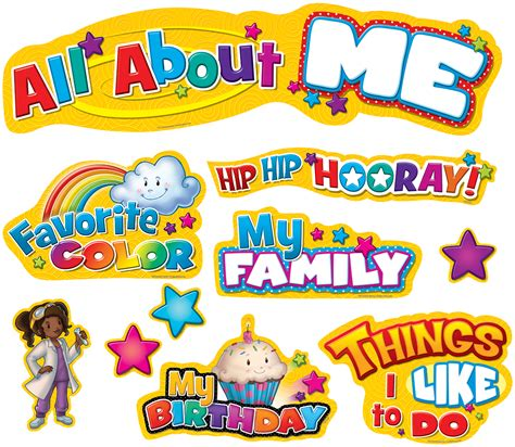 all about me clipart all about me mini bulletin board display set tcr5334