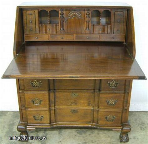 Maddox Furniture by Antique Maddox Mahogany Block Front Claw Desk At