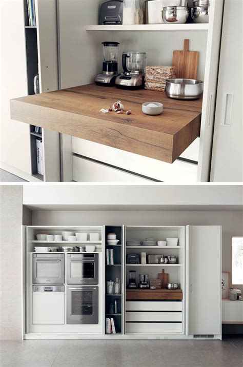 Kitchen Design Idea Pull Out Counters Kitchen Design Closed Kitchen Design