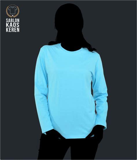 Kaos Polos Lengan Panjang Cotton Combed Model A21 model kaos polos dan pilihan warna kaos polos di