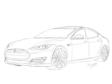 Tesla Model X Sketches by Tesla Model S Drawing By Revolut3 On Deviantart