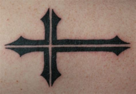simple crosses tattoos black and grey cross with wings design by streadwelljr