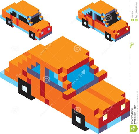 pixel car pixel car stock vector image 59742172