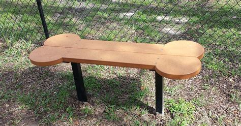 dog park benches biscuit bone seat 6