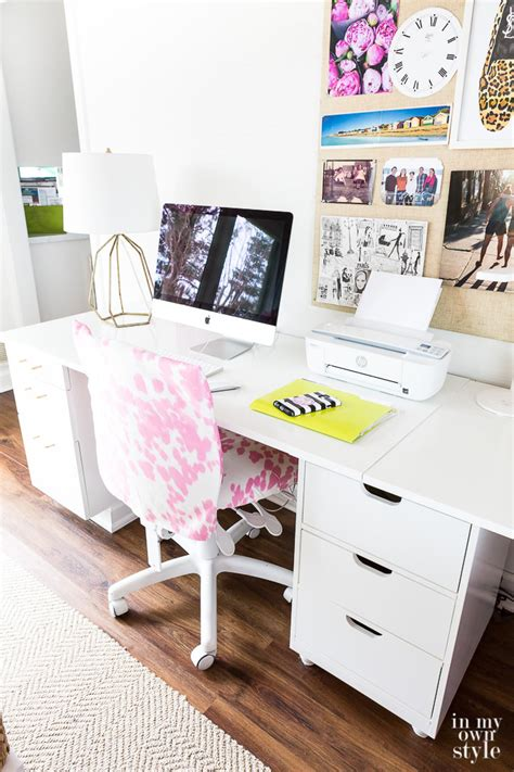 studioffice craft room tour in my own style craft room work table using file cabinets in my own style