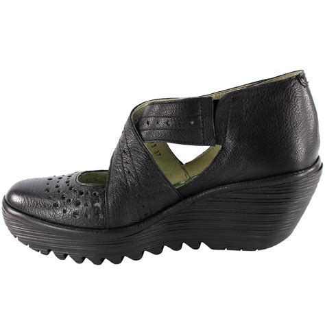 fly shoes womens fly yepe cross wedge heel summer work