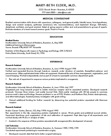 resume format for doctor doctor resume sle jennywashere