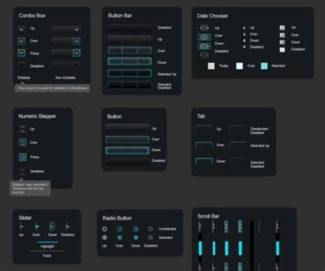 30  Free Web, Mobile UI Element Kits and Stencils for