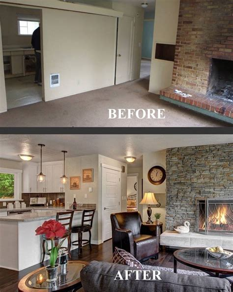 Open Plan Kitchen Divider by Before And After Family Room Transformation Choppy Floor