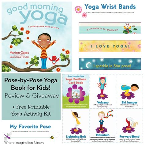 printable children s yoga cards good morning yoga book review fun yoga for kids where