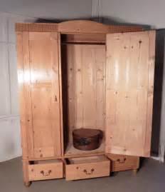 pine wardrobe compactum 19th century breakdown antiques