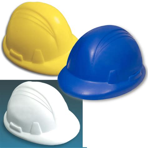 Stress Ball Giveaways - promotional hard hat stress reliever usimprints