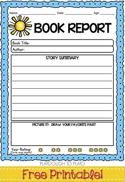 simple book report template free book report template easy way to build reading