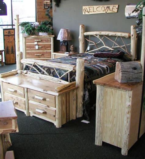 red cedar bedroom furniture red cedar log bedroom set log furniture pinterest