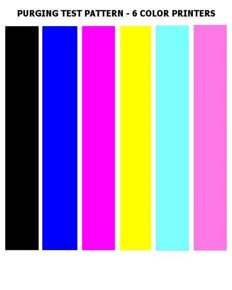 test pattern xerox test colors