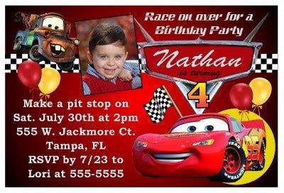 personalized disney cars birthday invitations disney cars birthday invitations ebay