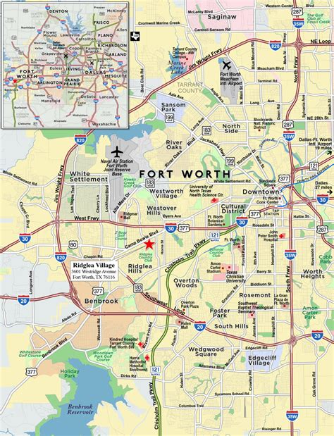 texas fort worth map dallas fort worth zip code map