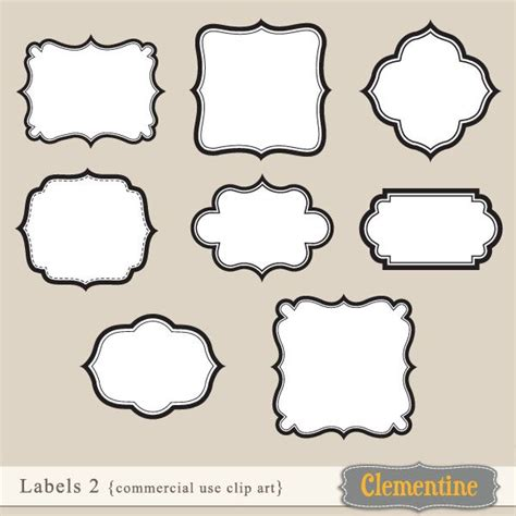 artwork label template clip vector and cards on