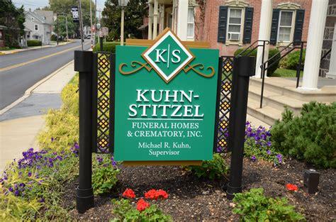 kuhn stitzel funeral home l h sign company philadelphia pa