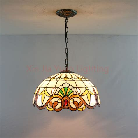 Stained Glass Kitchen Lighting 16 Quot Style Stained Glass Pendant Lights Bronze 2 Lights Handmade Bedroom Light Fixtures