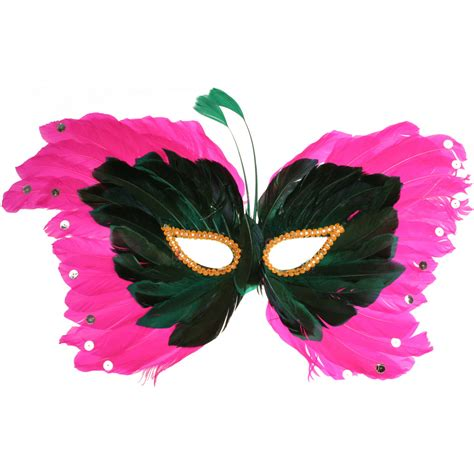 pink mardi gras pink butterfly feather mask mardigrasoutlet