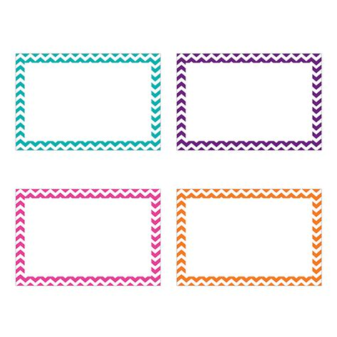 Make Your Own Flash Paper - border index cards 3 x 5 blank chevron by top notch