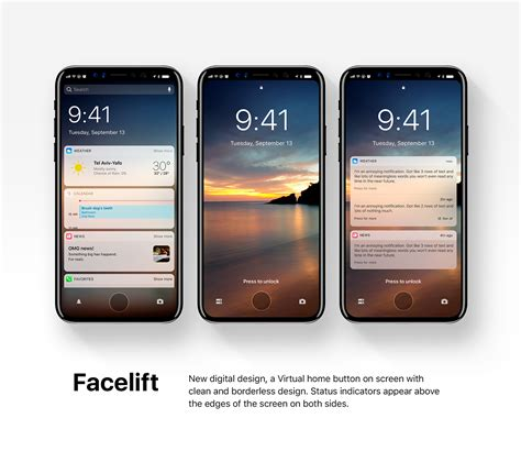 New Iphone New Ios 12 Concept Displayed On Iphone 8 On Behance