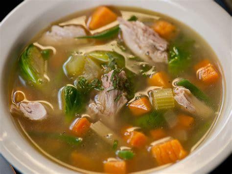 healthy turkey soup recipe michael chiarello s leftover thanksgiving soup popsugar