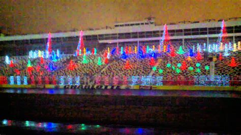 charlotte speedway christmas lights 2017 charlotte motor speedway christmas lights youtube