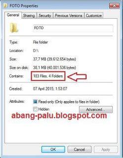 Lu Sorot Kotak cara mengetahui jumlah bermacam file di dalam folder