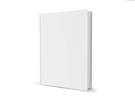 3d book cover template free blank white book psdgraphics