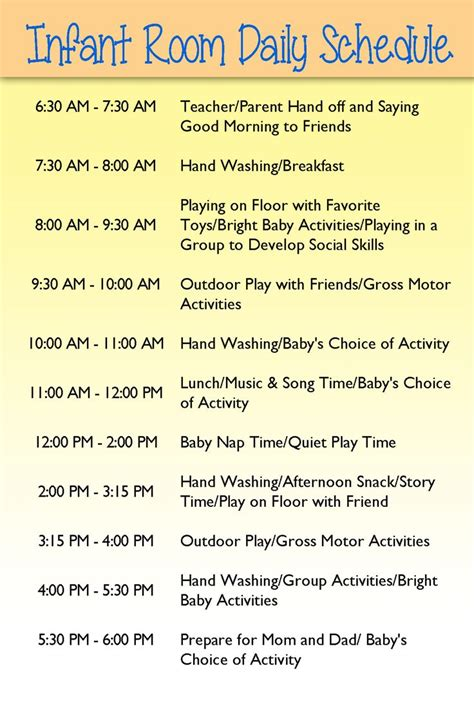 home daycare schedule template best 25 daycare schedule ideas on home