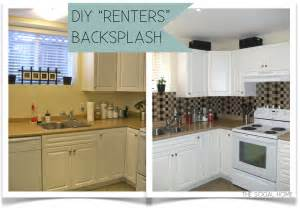diy tile kitchen backsplash diy quot renters quot backsplash with vinyl tile