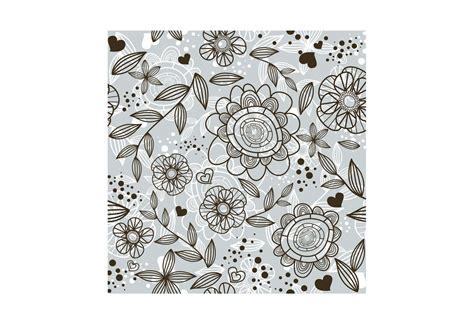 flower doodle pattern flower doodle pattern free vector stock