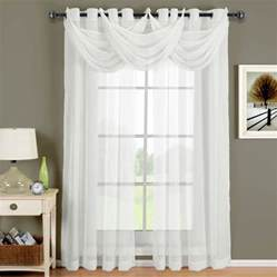 Privacy Sheer Curtains Sheer Curtains Privacy With Trio Swag