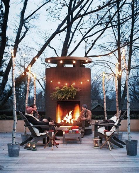 outdoor fireplace patio designs christmas decorating amazing outdoor string lights that you will love