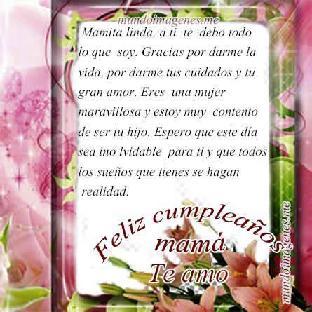 imagenes feliz cumpleaños mama imagenes de feliz cumplea 241 os mam 225 con frases bonitas