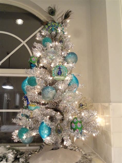 christmas trees tourquoise and silver 42 attaractive peacock tree decorations ideas decoration
